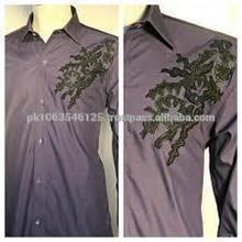 Designer Mens Kurta GI_6012 - RICH WEDDING MENS KURTA - Kurta Shalwar Designs for Men with heavy embroidery - Pakistani Men's