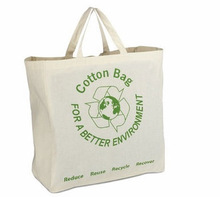 Personal natural printed cotton shopping bags
