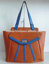 China Manufacturer Fashion leather lady handbag for christmas sale