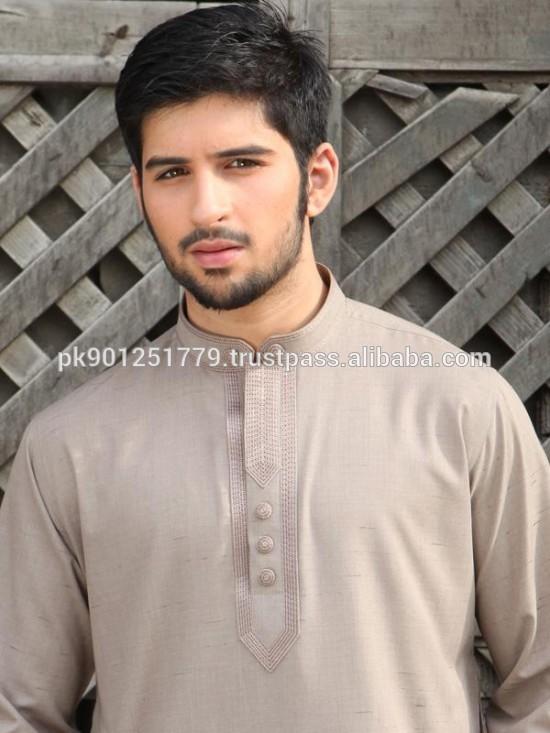 White Shalwar Men White Shalwar Kameez Brown