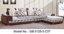 2014 hot sale new design functional living room furniture modern genuine fabric corner sofa