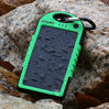Solar Mobile Charger External Battery 5000 Mah Waterproof Dustproof Shockproof Charger Powerbank for Iphone Samsung Smart Phone