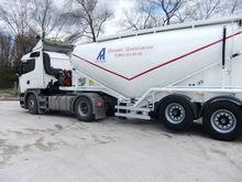 Eixos 2 reboque-tanque de cimento