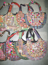 BANJARA EMBROIDERY ETHNIC COINS VINTAGE ARTS TRIBAL BAG FROM INDIA