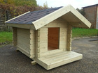 Dog house, Implement cabin, log cabins for living, gardening, garages, holiday houses, etc.