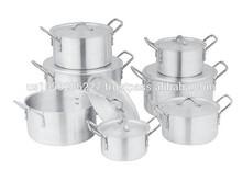 7pcs aluminum cooking pot stock pot aluminum cookware set