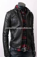 Men Fashion Leather Jacket GI_6504 ,winter Leather jacket,Hooded, Graceful Leather Jack