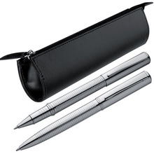Exclusive metal ball pen and rollerball set