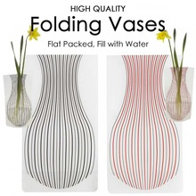 Plastic Folding Vases - Fill with water to expand - Great for florists / hospitals