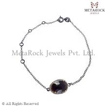 Zaffiro gemma braccialetto braccialetto di diamanti bracciale in oro 14k, fornitore progettista della pietra preziosa braccialetto, fatti a mano braccialetto di diamanti