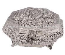 Exclusive Indian Designer German Silver Metal Supari Daans /Sweet Case/Dry Fruit Box