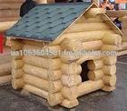 dog log wooden house