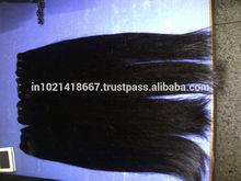 Double drawn straight human hair