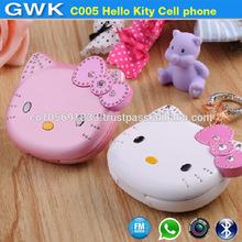 C005 Mini cute Hello Kity cell phone