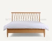 Scandinavian and contemporary modern oak wooden bed