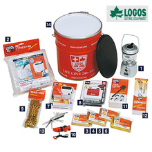 LOGOS Corporation ,Emergency Supplies,Survival Kit.Disaster Kit Can 14Piece Set (Crank Radio).Made in Japan.