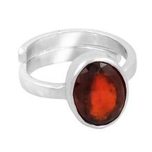 South Australia Buy Online 5.25 Ratti + Garnet Gemstone Adjustable Silver Ring