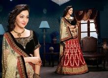 Full net lehenga sarees with velvet blouse / wholesale clothing surat