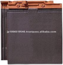 ceramic tiles roofing / Colored roof tiles of modern design ( CERAM FF Brown color )