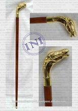 Horse Head Brass handle Walking Sticks, Decorative Vintage Walking Sticks, Beautiful Marine Walking Sticks