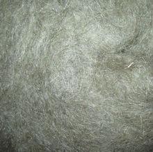 Cottonized unbleached flax fiber
