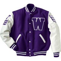 Blue And White Varsity Jacket , Get Your Own Designed Letterman Jackets Baseball Jackets , Wholesaler Of Varsity Jackets