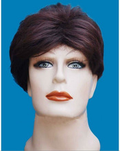 Natural colour brown black men hair high quality lace man wigs synthetic swiss lace hair factory price accept paypal