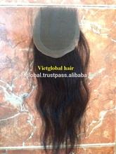 cheap natural human hair loose wavy closure hair piece