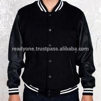 Mens Leather Winter Baseball Varsity Jacket From Wholesale Clothing Factory