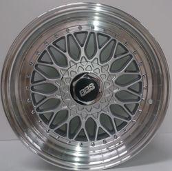 "Alloy Wheels BBS RS style 17"" pcd 9X100 ET35 CB 73.1 SILVER POL /LIP"