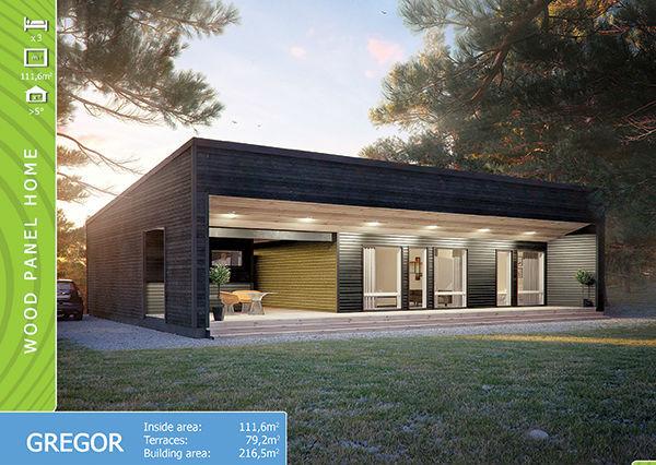 Prefabricated Wooden Panel House Gregor Buy Prefab