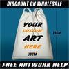 Custom printed drawstring bags. 100% cotton