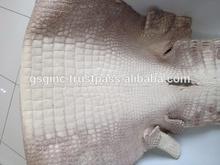 Genuine Siamensis Crocodile Belly Leather Hide White for Garment