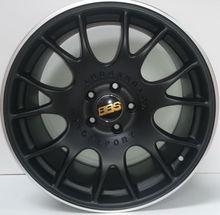 "Alloy Wheels BBS CH style 18"" pcd 5X112 ET45 CB 66.6 MATT BLACK SILVER LIP...EUROPE'S MAIN SUPPLIER BEST PRICE 1 to 4 DAYS DELIV"