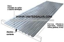 Galvanizado Por Inmersion en Caliente Hojas Acanaladas 0.11mm 0.12mm 0.13mm 0.14mm 0.16mm 0.18mm 0.20mm