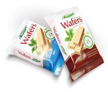 Wafers with stevia with milk flavour