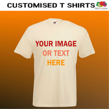 custom printed natural t shirts. beige coloured t shirts
