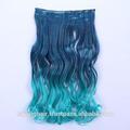 Verde blu ha graduale Ombre parrucche vergine capelli estensione trama pre- legame fermaglio nei capelli gradiente di una donna taglio di capelli treccia