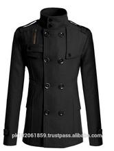 Men's Trench Coat/Men's double breasted woolen coats