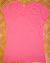 Ladies Crew-Neck Solid T-Shirt