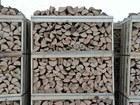 Beech and oak firewood on pallets