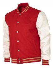 Red body varsity jackets / Wool varsity jackets