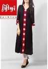 New Center Buttoned Kurti Highly Fashionable 2015