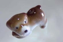 Japanese Arita ware (porcelain) incense stand, dog