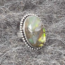 Newly arrived high fashion 925 sterling silver plated Rainbow copper turquoise ring