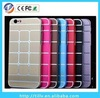 2014 Dustproof Shockproof Dirt Dust Proof Hard Back Aluminum Brushed Metal Case for iPhone 6