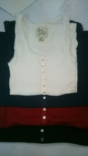 LOVE TO LOUNGE LADIES S/L R/N FANCY LONG TOP WITH 6 BUTTONS + LACE WORK @ NECK & BOTH SLEEVE END