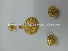 24 KARAT FORMING GOLD DARSHAN PENDAL BUTI SET