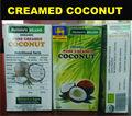 Orgânica desnatado coco - coco manteiga