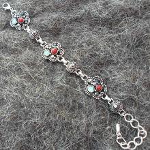 Newly arrived Elegant design 925 sterling silver plated Vintage rose quartz multi onyx Bracelet